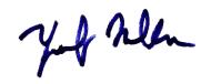 Mufti Sahib's signature